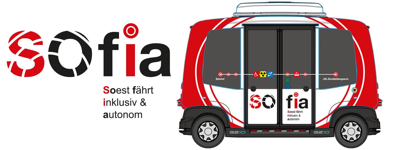 SOfia Logo und Fahrzeug